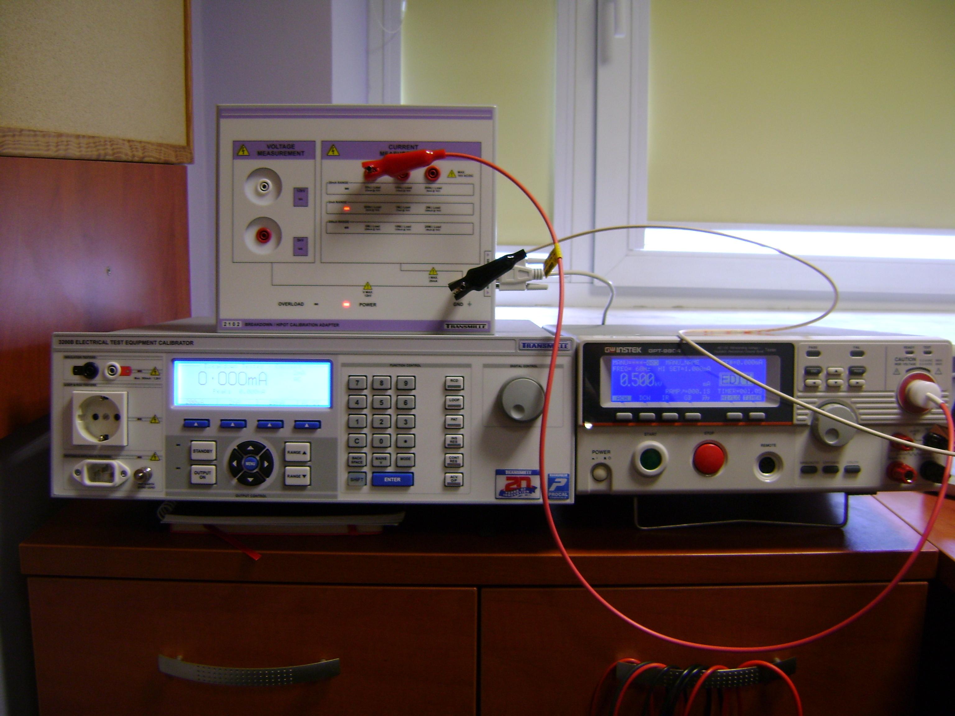 Wzorcowanie / kalibracja testerów wytrzymałości elektrycznej